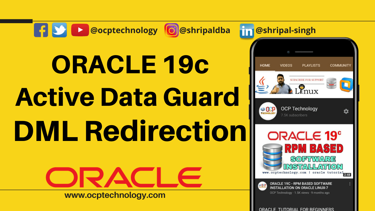 Oracle 19c Active Data Guard-DML Redirection