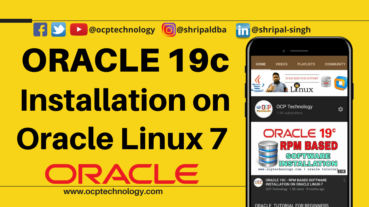 Oracle Database 19c Installation on Oracle Linux 7