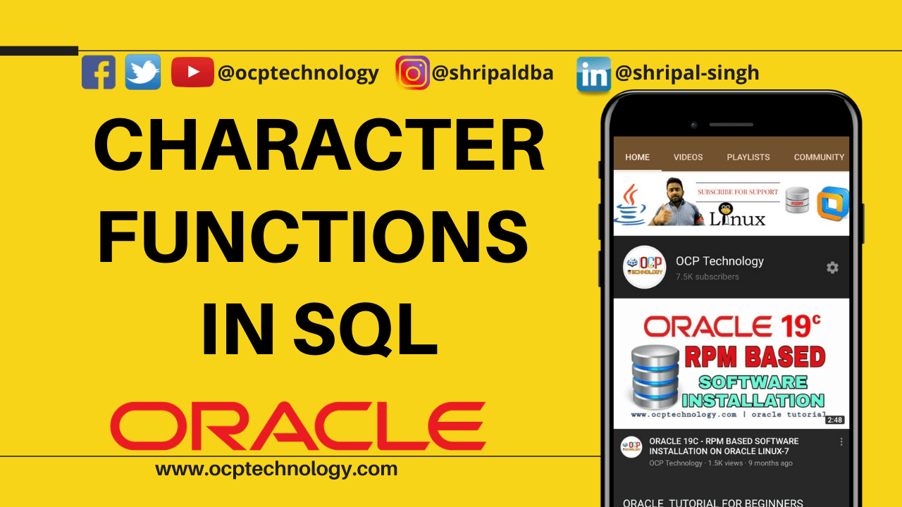 Character Functions in SQL
