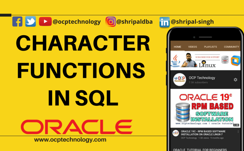 SQL Character Function