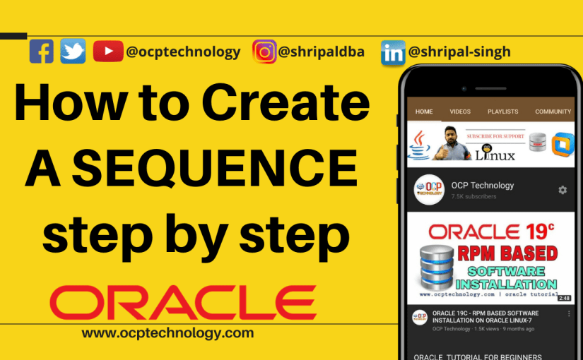 How to create a SEQUENCE step by step