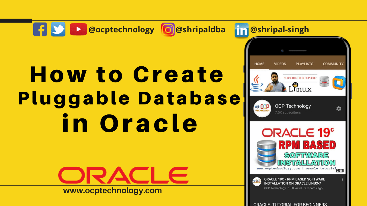 Create Pluggable Database Oracle