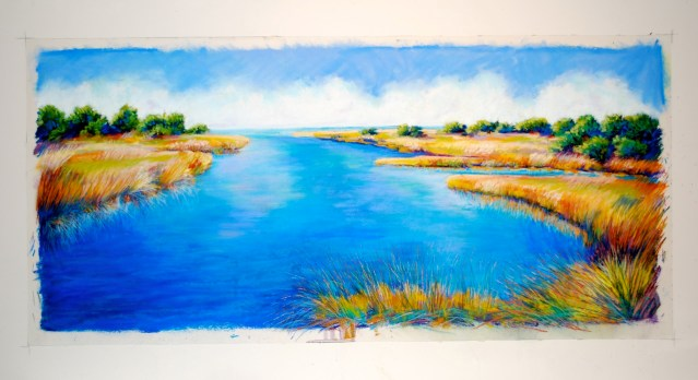 Bassell creek pastel 8.11