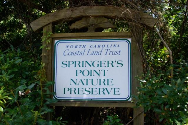 Springer's Point sign