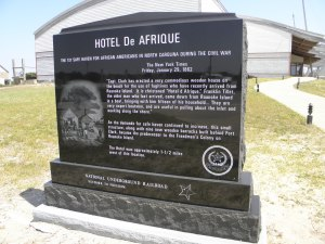 Marker at the Graveyard of the Atlantic Museum, Hatteras.  Photo by C. Leinbach