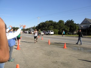 Chito Guerrero, last year's 10K champion, crosses the finish line.