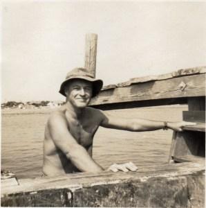Len Meeker inspects bulkhead in 1966. Photos courtesy of Anne Runyon.