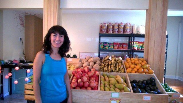 Gloria Perez in her newly opened La Brisa store on Ocean View Road. Photo by P. Vankevich.