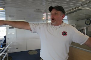Provincetown III captain John Molineaux explains the boat's features.