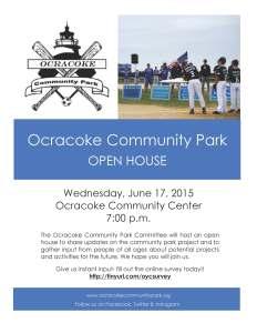 PR 6.17.15 Ocracoke Community Park Open House