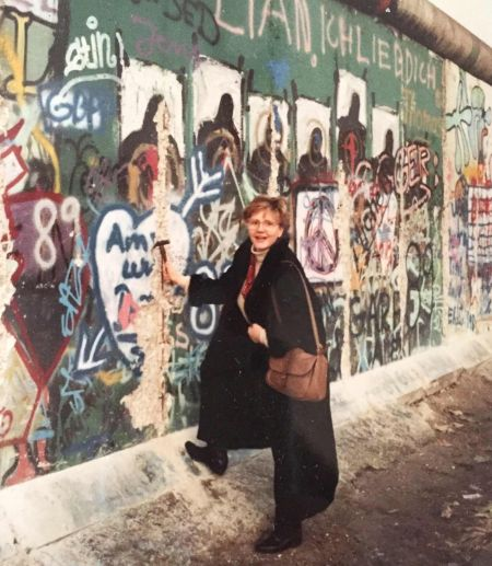 Gisela at the Berlin Wall. Photo courtesy of Katja Zastrow.