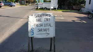 Ocracoke Observer Shrimp Sign 7-24-15