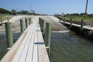 The rebuilt boat launch at the end of the NPS parking lot is not sloped sharply enough. Photo by C. Leinbach