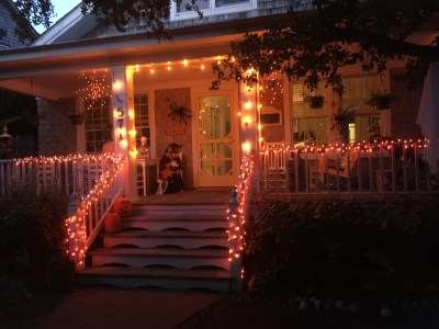 Thurston House all decked out in orange.