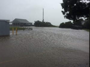 The ferry office area yesterday. Photo by Ed Fuller