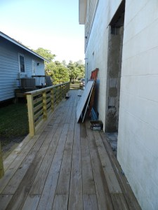 A new deck is installed.