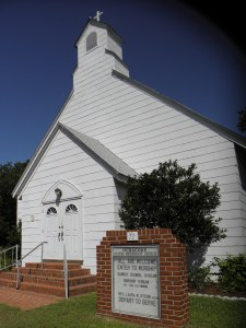 The Ocracoke United Methodist Church on School Road.