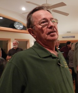 """Lloyd Lewis at the """"tally rally"""" where the total numbers of birds are reported."""