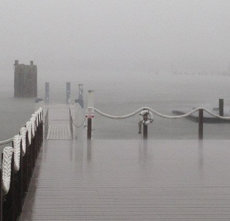Water rises in Silver Lake Harbor from storms in early October. Photo by Catherine Farley