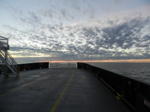 The view from the back end of the Hatteras Ferry. Photo by C. Leinbach