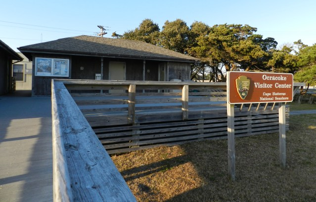 The Cape Hatteras National Seashore Visitor Center in Ocracoke village. Photo by C. Leinbach