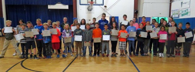 Ocracoke students getting A's, April 2016