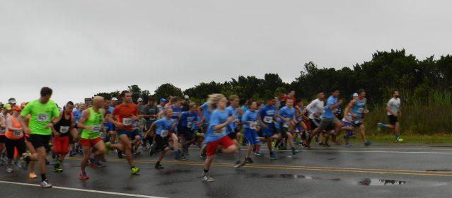 The Fifth Annual Ocracoke 10K/5K Race begins.