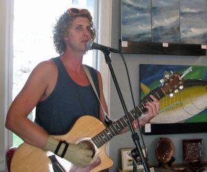 Aaron LaVigne performs at Dajio on Thursday.