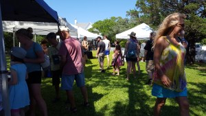 Maker's Market o the lawn of the Wahab House, returns today, June 27, from 3 to 8 p.m.
