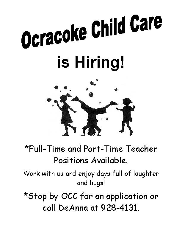Child care help wanted