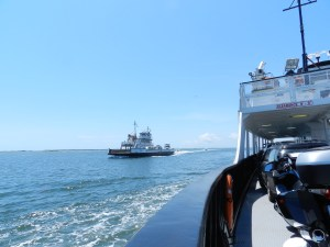 Riding the Hatteras Ferry.