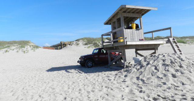 The lifeguard on Ocracoke. Photo: C. Leinbach