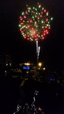 Professional fireworks returned to Ocracoke July 3 to the acclaim of islanders and visitors. Photo: Melinda Sutton