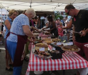 Attendees at the Fig Cake Bake-Off during the Ocracoke Fig Festival in Community Square Friday, Aug. 12, will have a chance to sample all of the traditional and innovative entries. The festival continues Aug. 13 with vendors and concludes with at dance party with three bands at 7 p.m.
