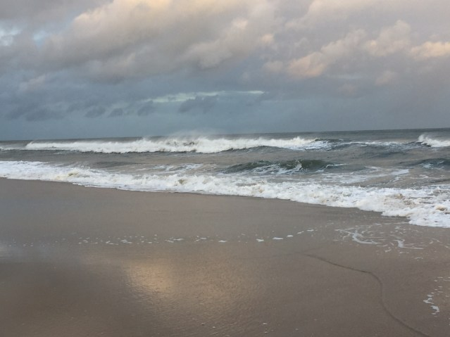 The ocean at twilight on Saturday. Photo: C. Leinbach