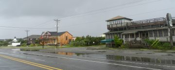 Ocracoke businesses are shuttered for Hurricane Matthew. Photo: C. Leinbach