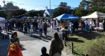 The Festival Latino de Ocracoke on the Ocracoke School grounds.