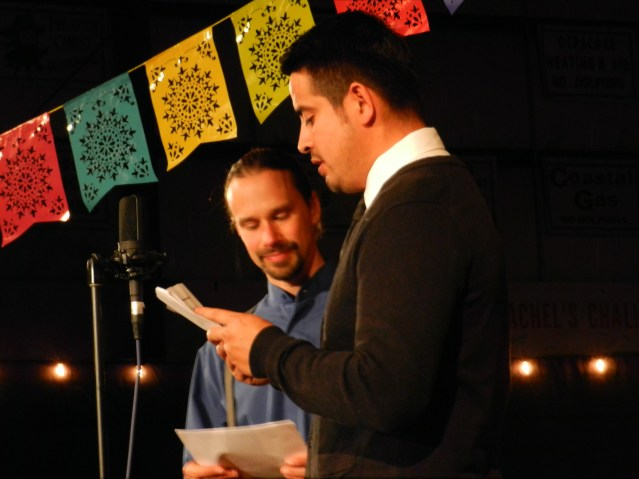 David Tweedie, president of Ocracoke Alive, and Freddy Contreras, festival organizer, were the MCs of the Saturday night performance.