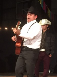 Islander Adrian Espinosa wowed the crowd in the Ocracoke School gym while singing with Guitarras Mexicanas de Ocracoke.