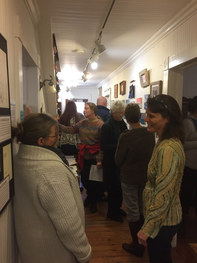 "The crowd at the OPS ""Ocracoke Through Your Eyes"" art auction Saturday night. Photo: C. Leinbach"