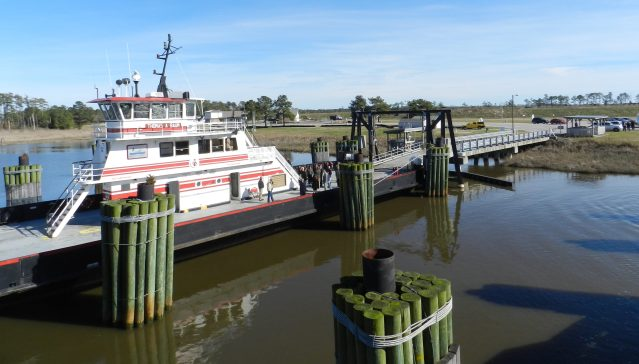 A view of the Swan Quarter ferry dock. Photo: C. Leinbach
