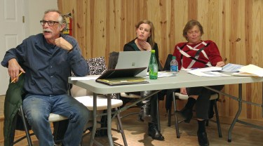 Commissioner Tom Pahl, Claire Brinkley, SVG transit planner, Beverly Paul, director of Hyde Transit