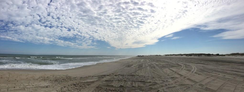 Dramatic Ocracoke, NC, beach. Photo: C. Leinbach
