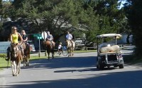 Ocracoke, NC, streets and traffic
