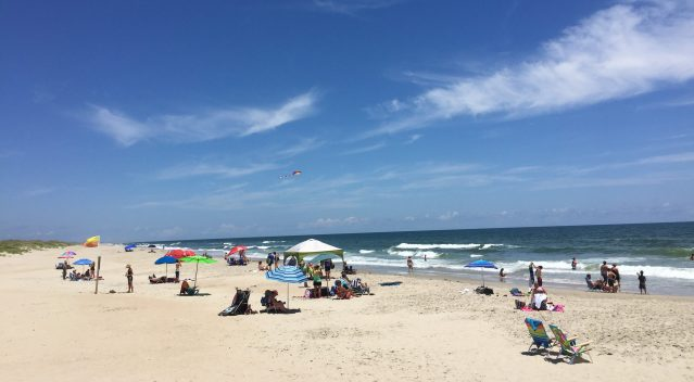 Lifeguard Beach on Ocracoke, NC