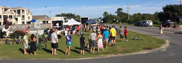 Ocracoke NC community dinner during power crisis
