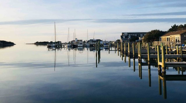 Slick cam on Ocracoke NC's Silver Lake harbor. Photo: C. Leinbach