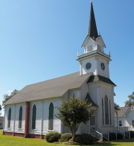 The Fairfield Methodist Church, 126 Church St., Fairfield, Hyde County, N.C., was built in 1877.