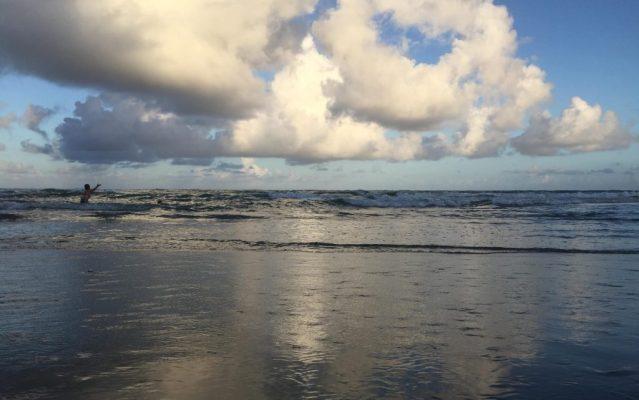 Twilight surf on Ocracoke, N.C. Photo: C. Leinbach