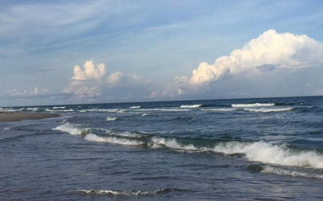 Ocracoke, N.C., ocean waters are clear and safe. Photo: C. Leinbach